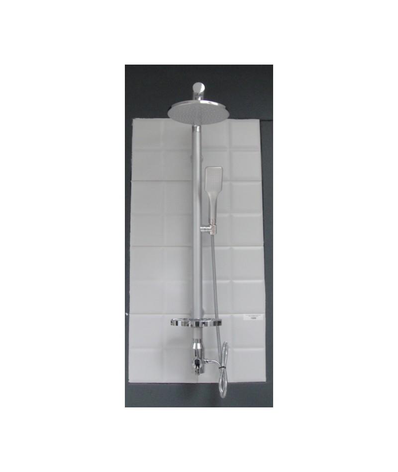 sl004 mat chrome colonne de douche design elallar. Black Bedroom Furniture Sets. Home Design Ideas