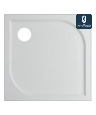 ARGON Tub de douche en polybeton gelcoat blanc 90x90x3cm