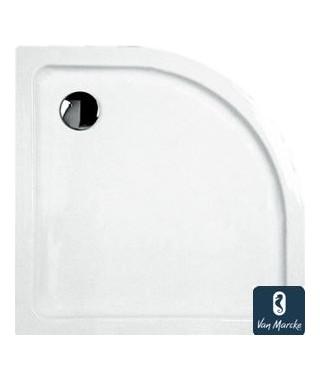 ARGON Tub de douche en polybeton gelcoat blanc 90x3cm