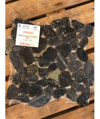 MOSAIQUES COQUILLAGES BLACK 30X30