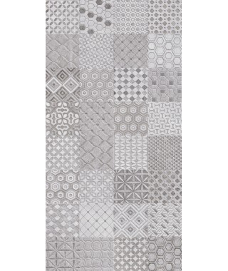 TRASSIMENO Mix Motif Grey Decor 30X60