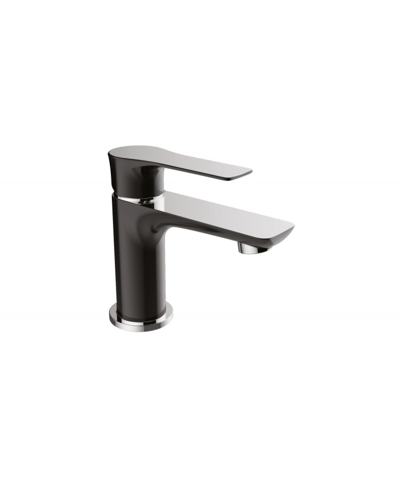 Bs002 black mitigeur lavabo design elallar carrelage bruxelles for Lavabo design