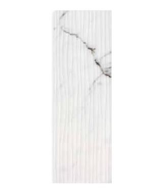 Silver calacata wave glossy 30x90