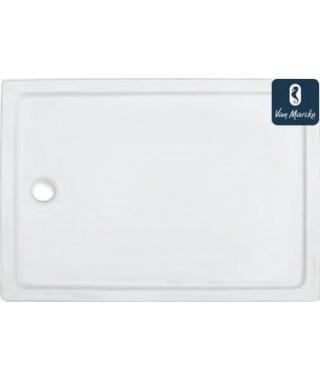 EDEN Tube de douche en acrylique blanc 120x90x3.5cm
