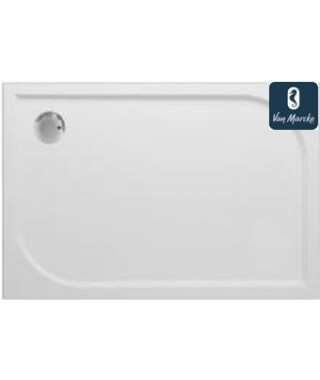 ARGON Tub de douche en polybeton gelcoat blanc 120x90x3cm