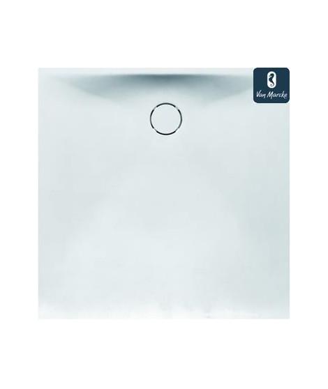 PROTON Tub de douche en solid surface blanc 90x90x3.5cm