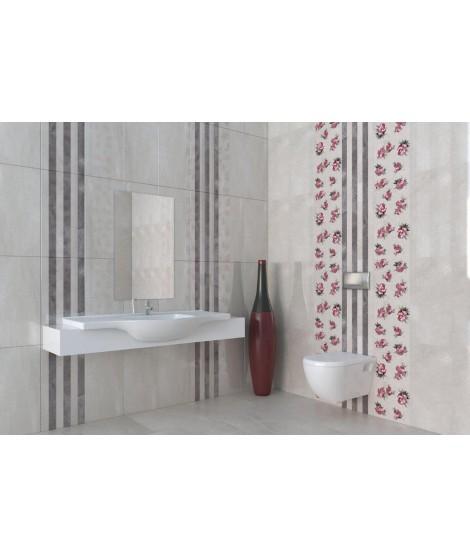 PULPIS Linea Grey Decor Brillant Mural 30x60