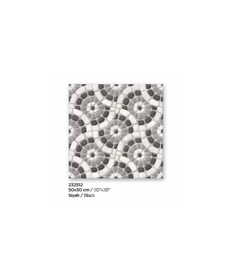 GARDEN Black Mat Sol 50x50