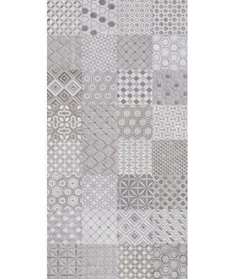TRASSIMENO Mix Motif Grey Decor 30X60