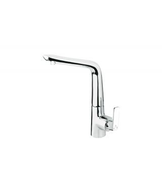 GL004 Chrome Mitigeur Evier/Cuisine Design ELALLAR