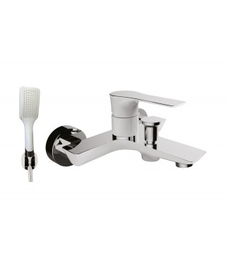 BB001 WHITE Mitigeur Bain/Douche + Set Design ELALLAR
