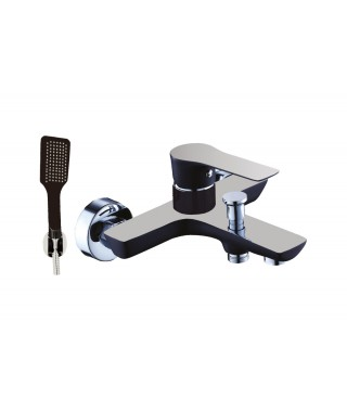 BS001 BLACK Mitigeur Bain/Douche + Set Design ELALLAR